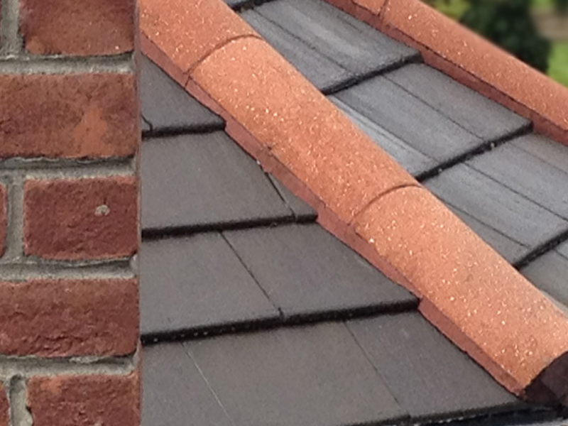 An example of a roof after being cleaned and receiving algae removal treatment.
